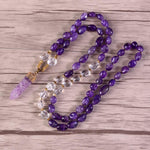 Energetic Healthy Me Stone Necklaces Amethyst Embrace 32 Inches