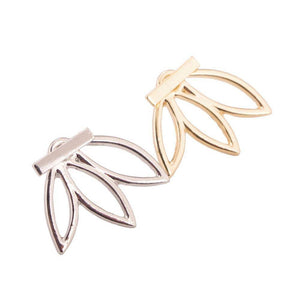Energetic Healthy Me Stud Earrings Lotus Studs, So Pretty! Gold