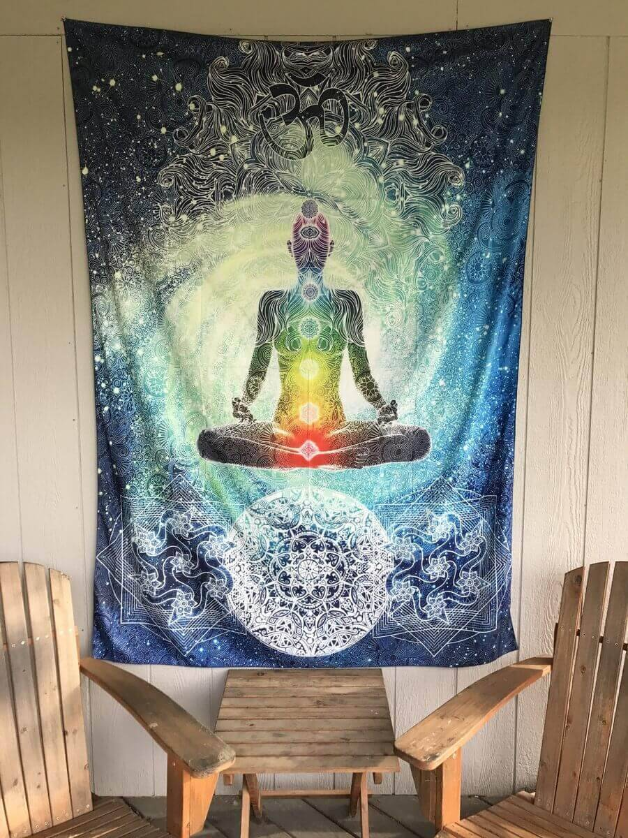 Energetic Healthy Me Tapestry Chakra Meditation Tapestry