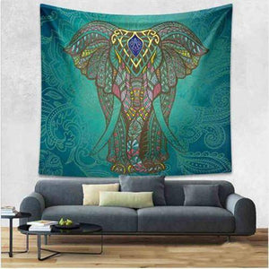Energetic Healthy Me Tapestry Crazy Awesome Tapestry Dark green Elephant / 150x130cm
