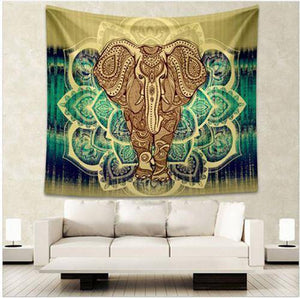 Energetic Healthy Me Tapestry Crazy Awesome Tapestry Yellow Elephant / 150x130cm