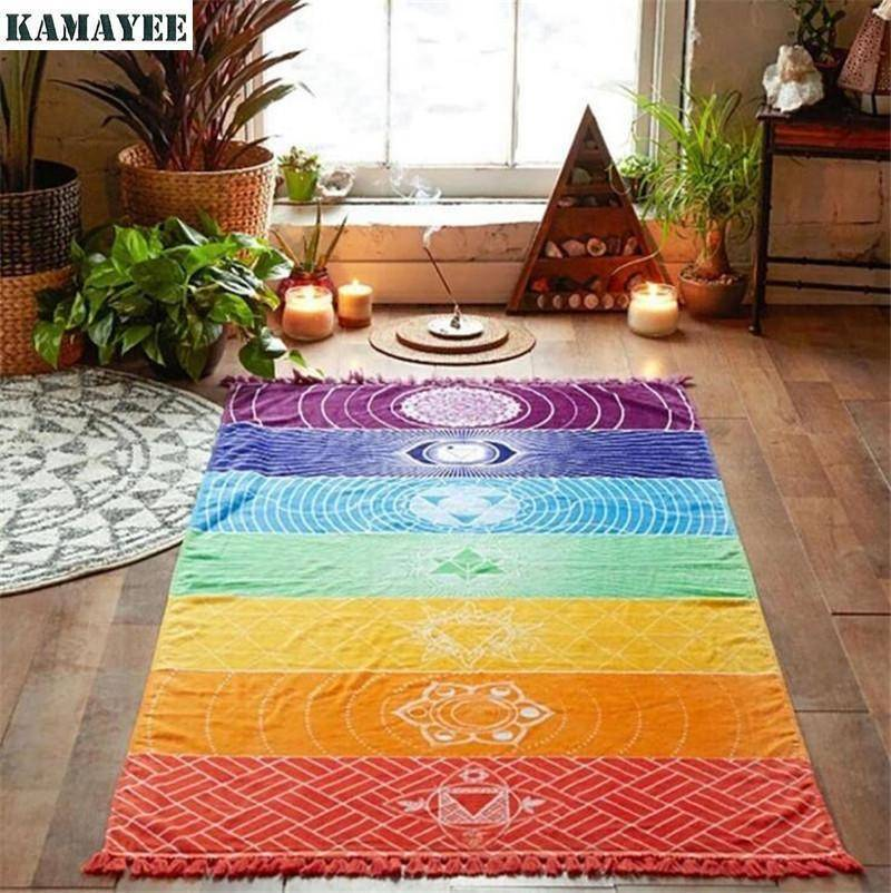 Energetic Healthy Me Tapestry Natural Cotton Chakra Tapestry