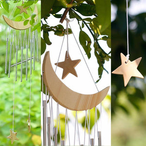 Energetic Healthy Me Wind Chimes & Hanging Decorations Moon and Stars Wind Chime Natural Color