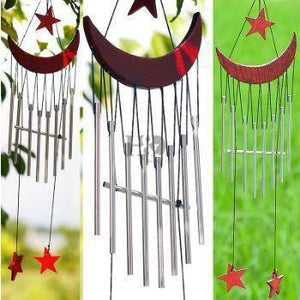 Energetic Healthy Me Wind Chimes & Hanging Decorations Moon and Stars Wind Chime Red Color
