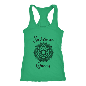 teelaunch T-Shirts Savasana Queen Green / XS