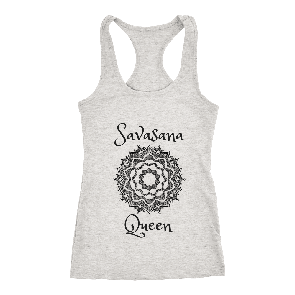 teelaunch T-Shirts Savasana Queen Grey / XS