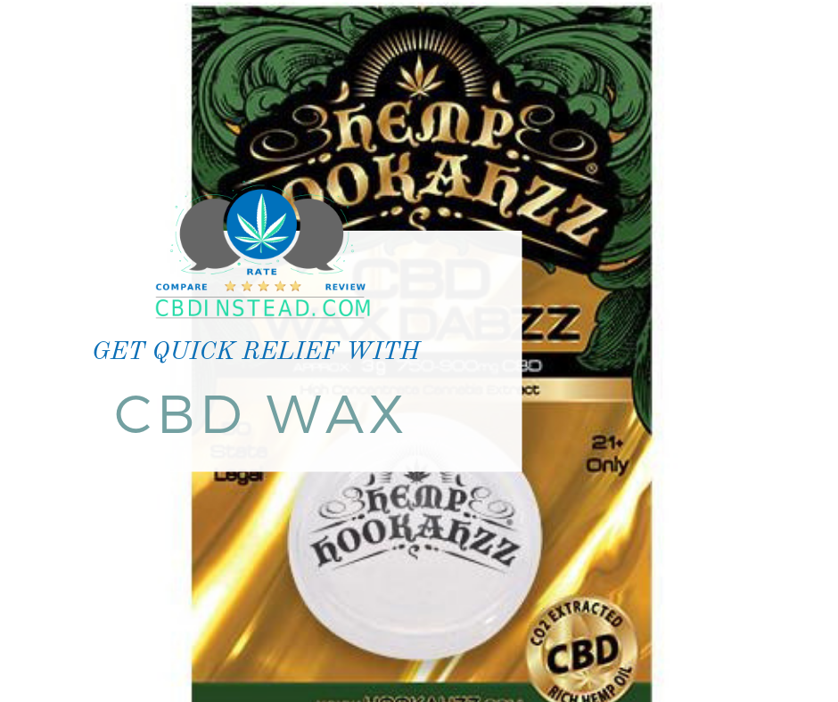 Get Quick Relief with this CBD Wax