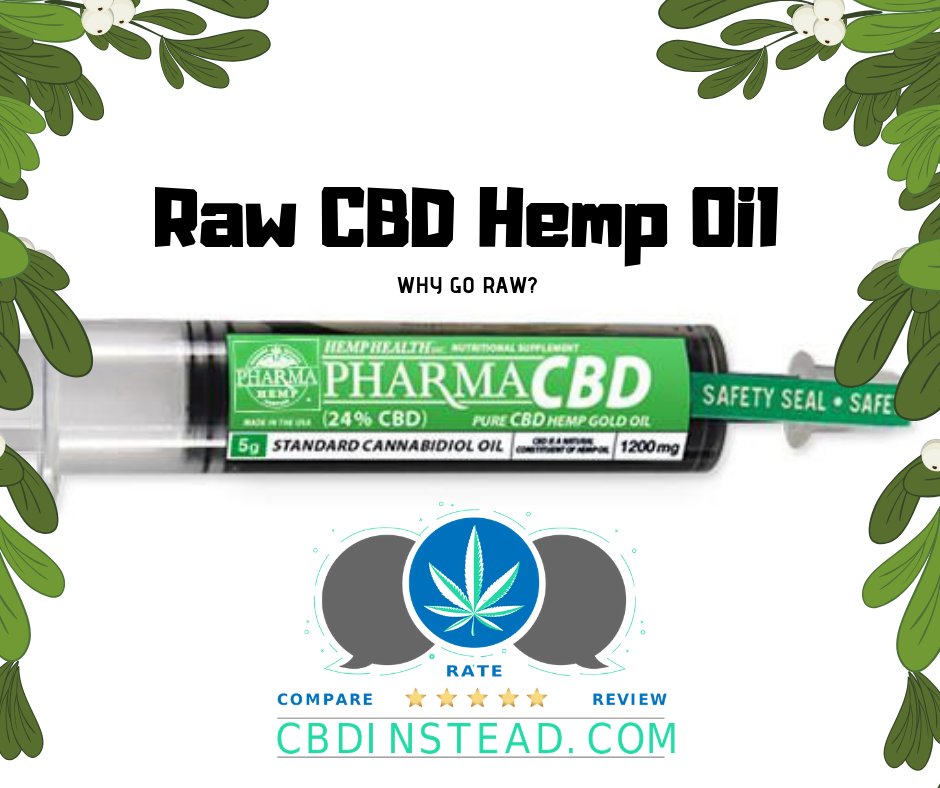Raw CBD Hemp Oil: Why Go Raw?