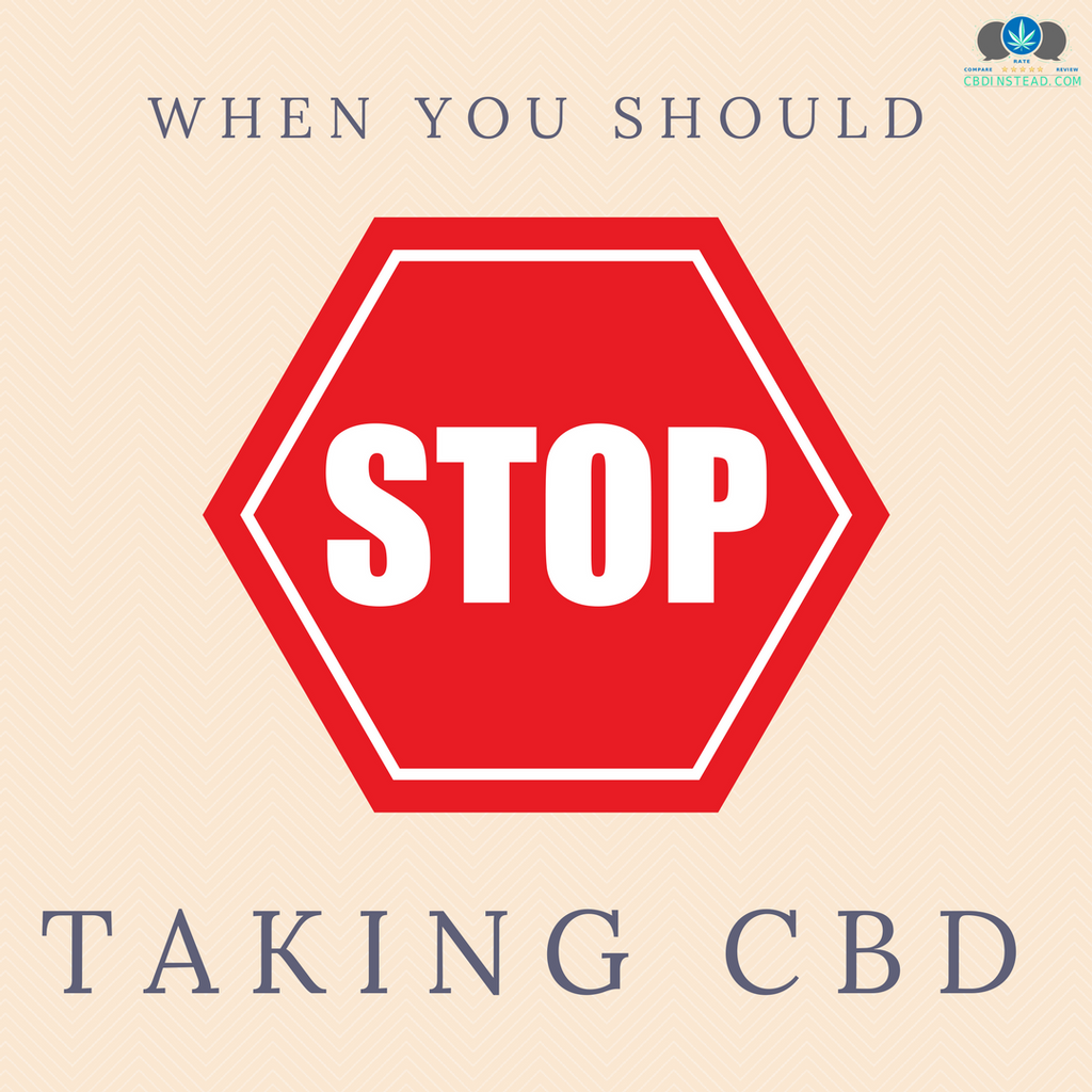 When You Should STOP Taking CBD
