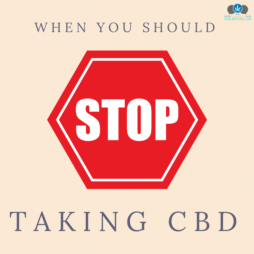 When You Should STOP Taking CBD – CBD Instead