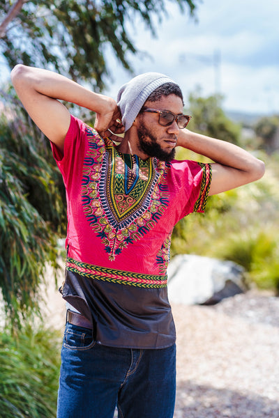 HOT PINK UNISEX DASHIKI SHIRTS