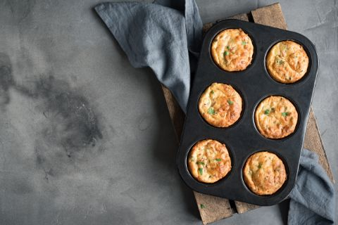 A pan of egg muffins