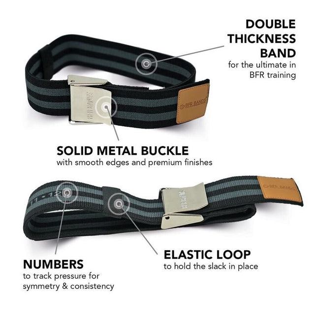 PRO Premium BFR Bands - Twice as Thick Plus Solid Metal Locking Buckles