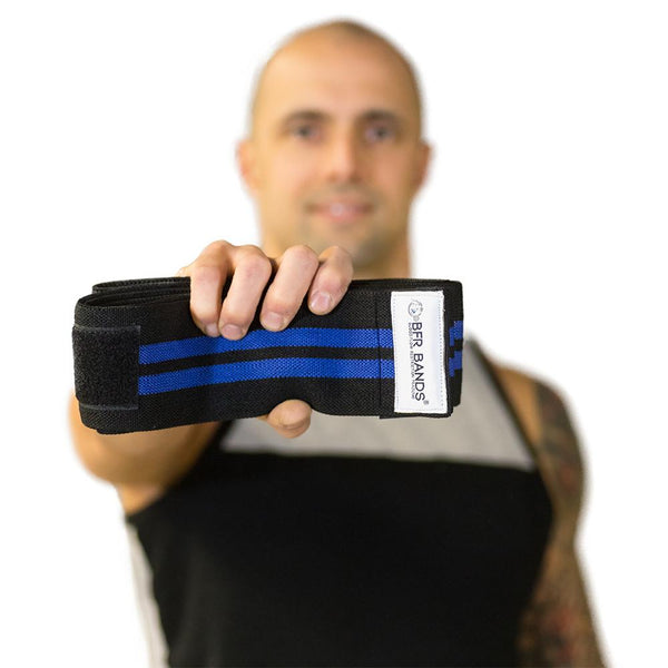 Bfr Knee Wraps - 3 Inches Wide With Hook And Loop Fastener Tape - For Occlusion Training - Bands