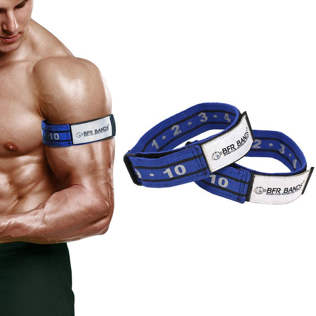 "Blood Flow Restriction Bands for Arms | 1.5"" wide 