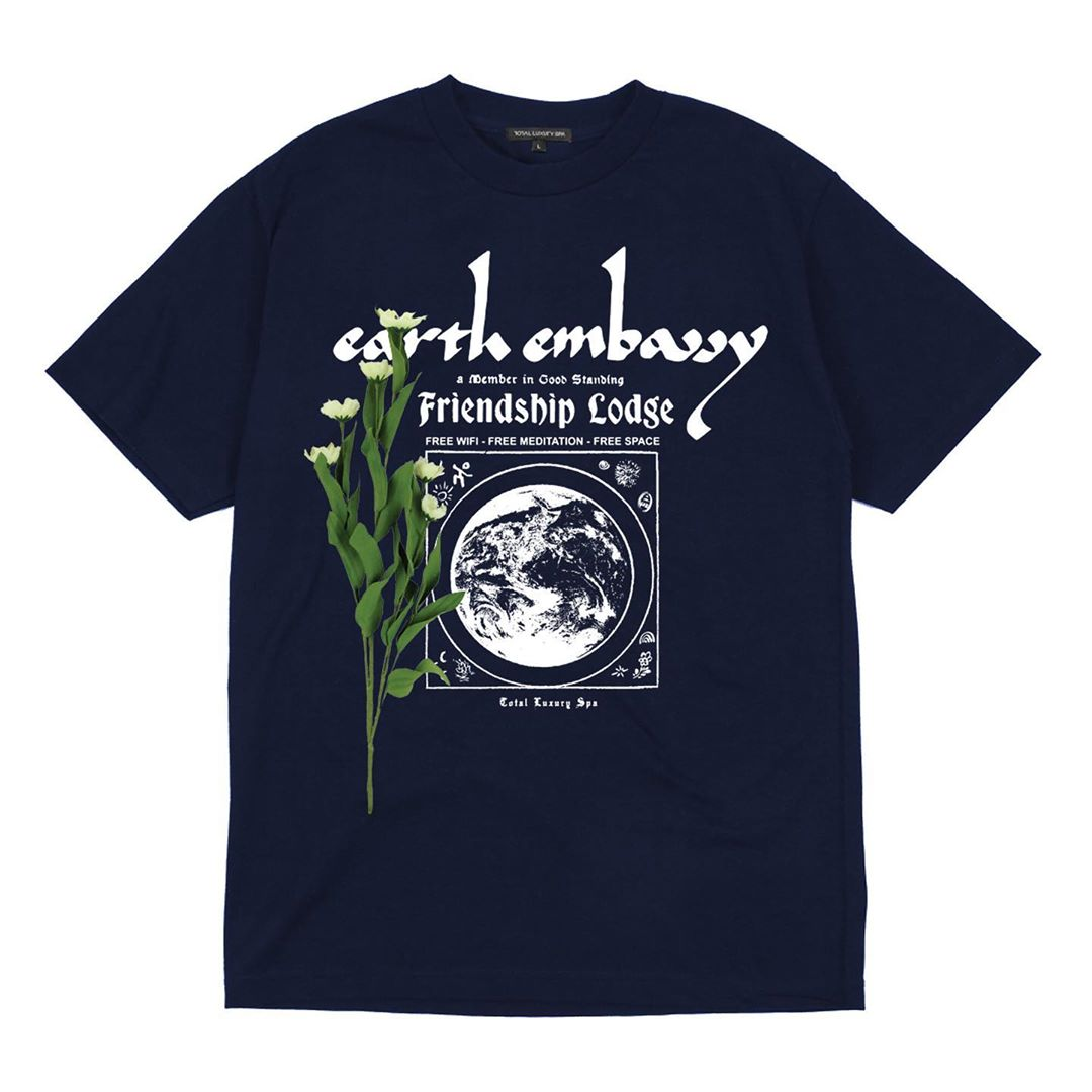 EARTH EMBASSY - S/S TEE - NAVY