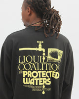 LIQUID COALITION FOR PROTECTED WATERS - L/S TEE - BLACK