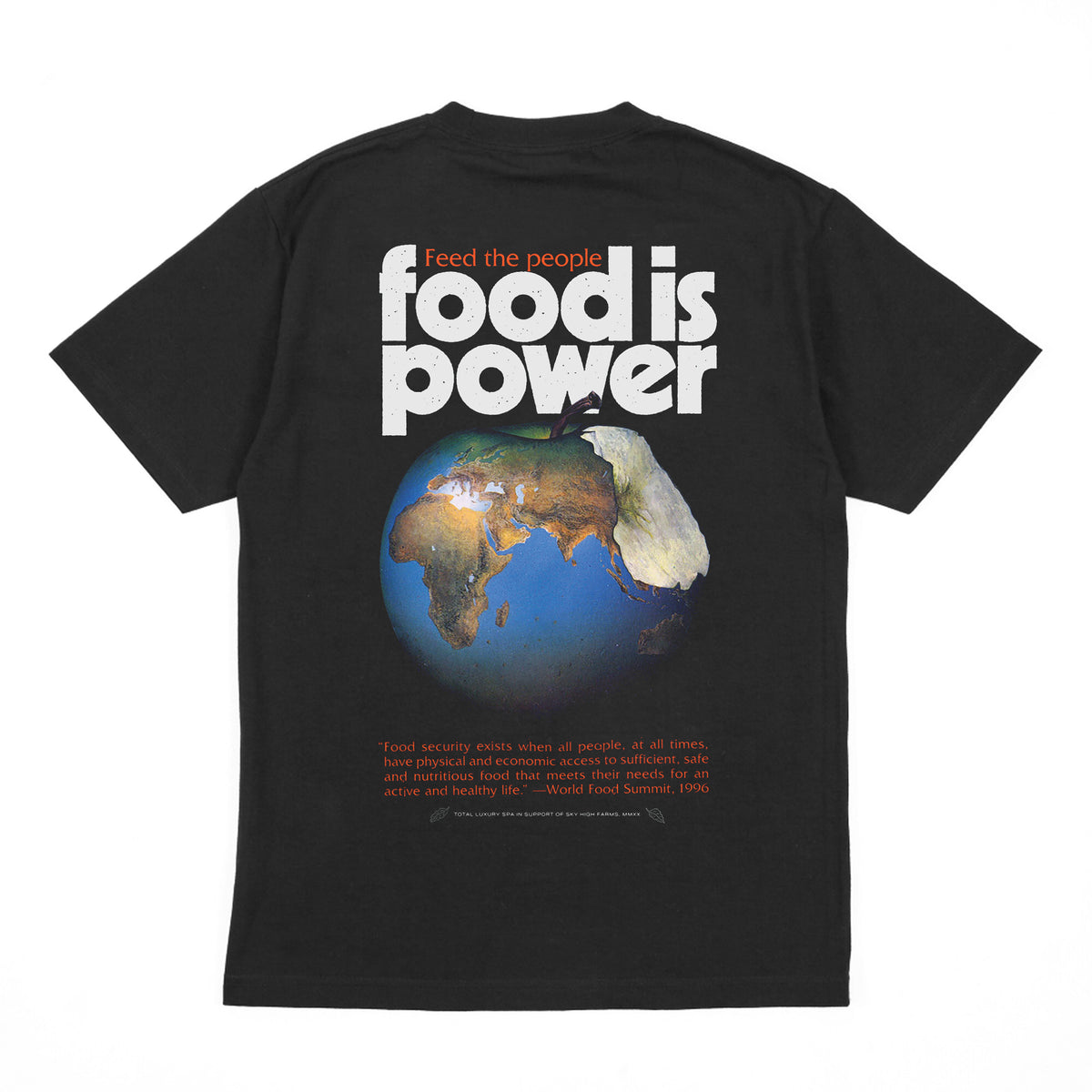SKY HIGH FARMS X DOVER STREET MARKET X TOTAL LUXURY SPA – FEED THE PEOPLE – S/S TEE BLACK