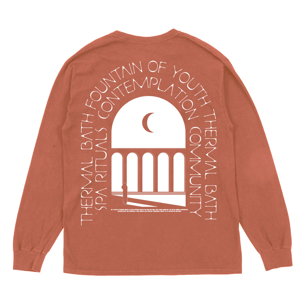THERMAL BATH L/S TEE - CORAL