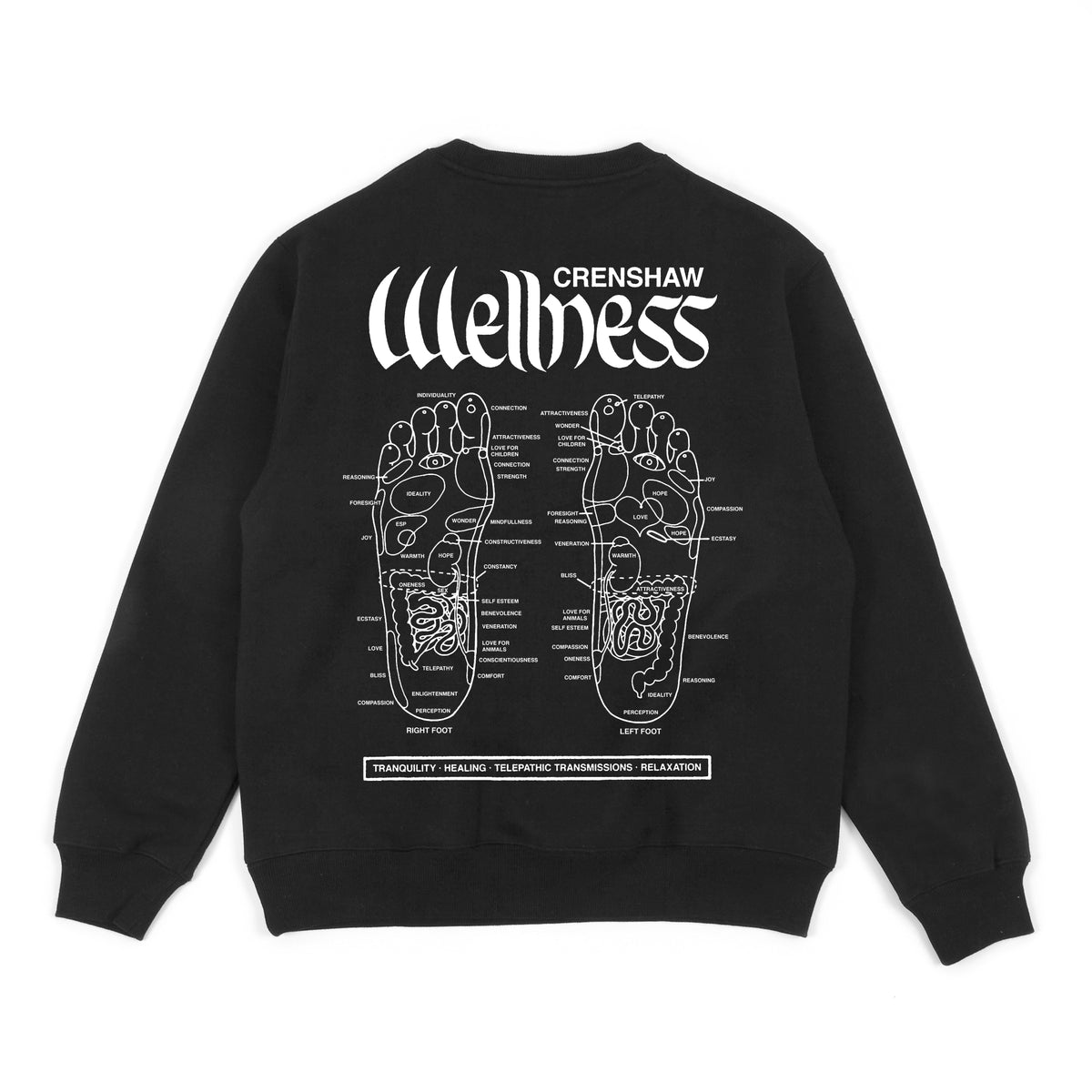 PRESSURE POINTS - CREW FLEECE - BLACK