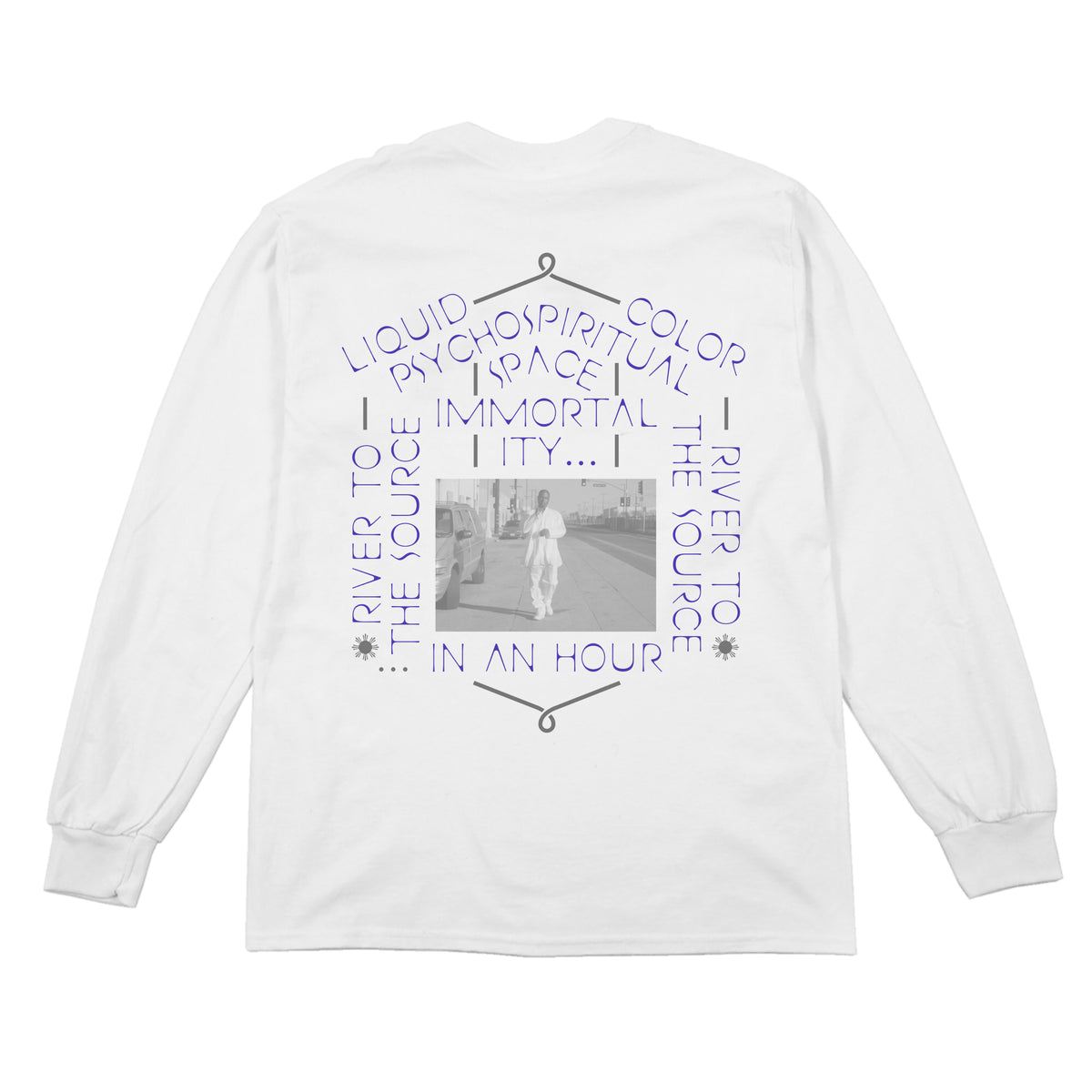 THERMAL BATH -  L/S TEE - WHITE