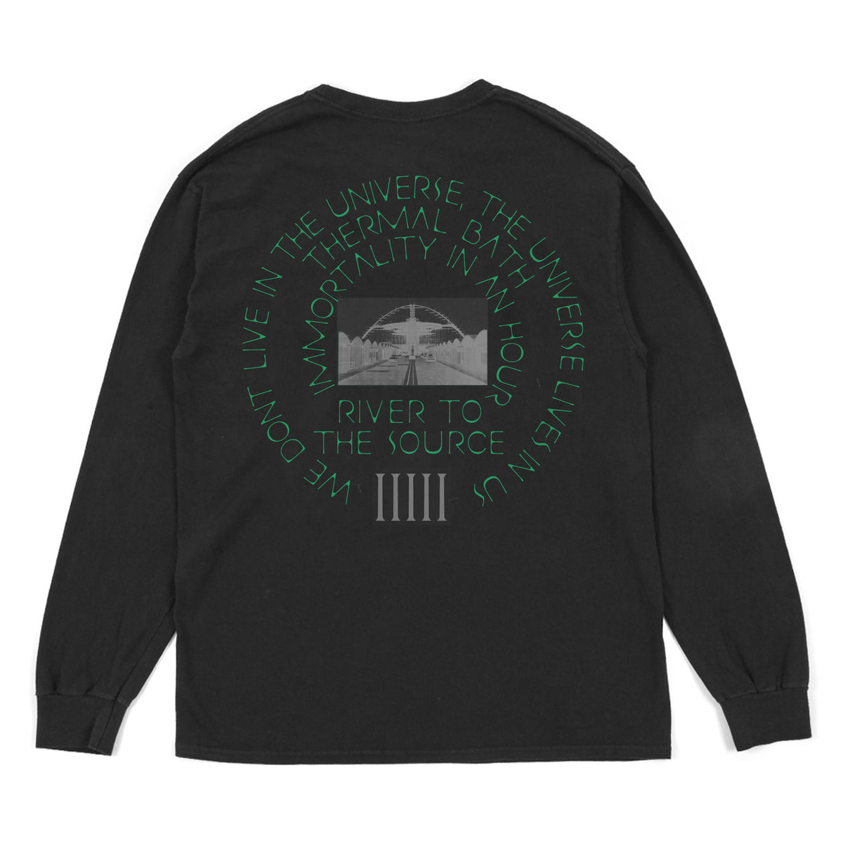 THERMAL BATH -  L/S TEE - BLACK