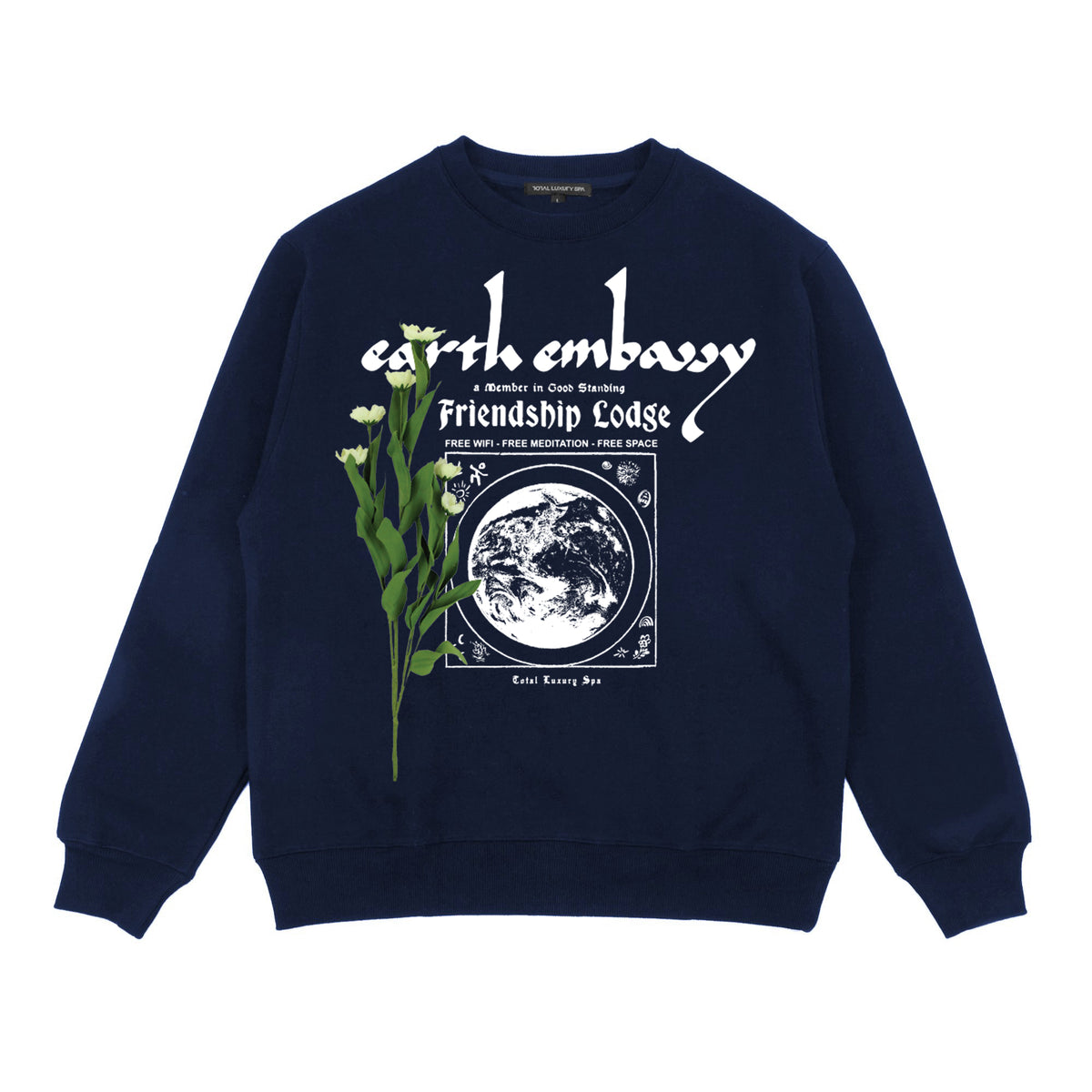 EARTH EMBASSY - CREW FLEECE - NAVY