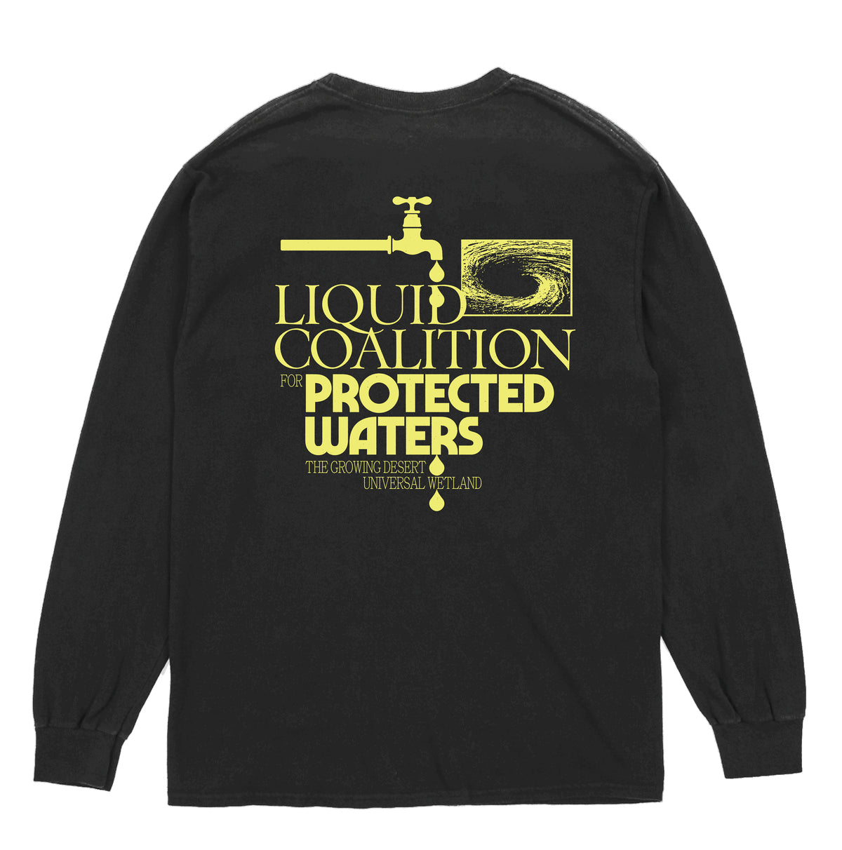 WHOLESALE LIQUID COALITION FOR PROTECTED WATERS - L/S TEE - BLACK