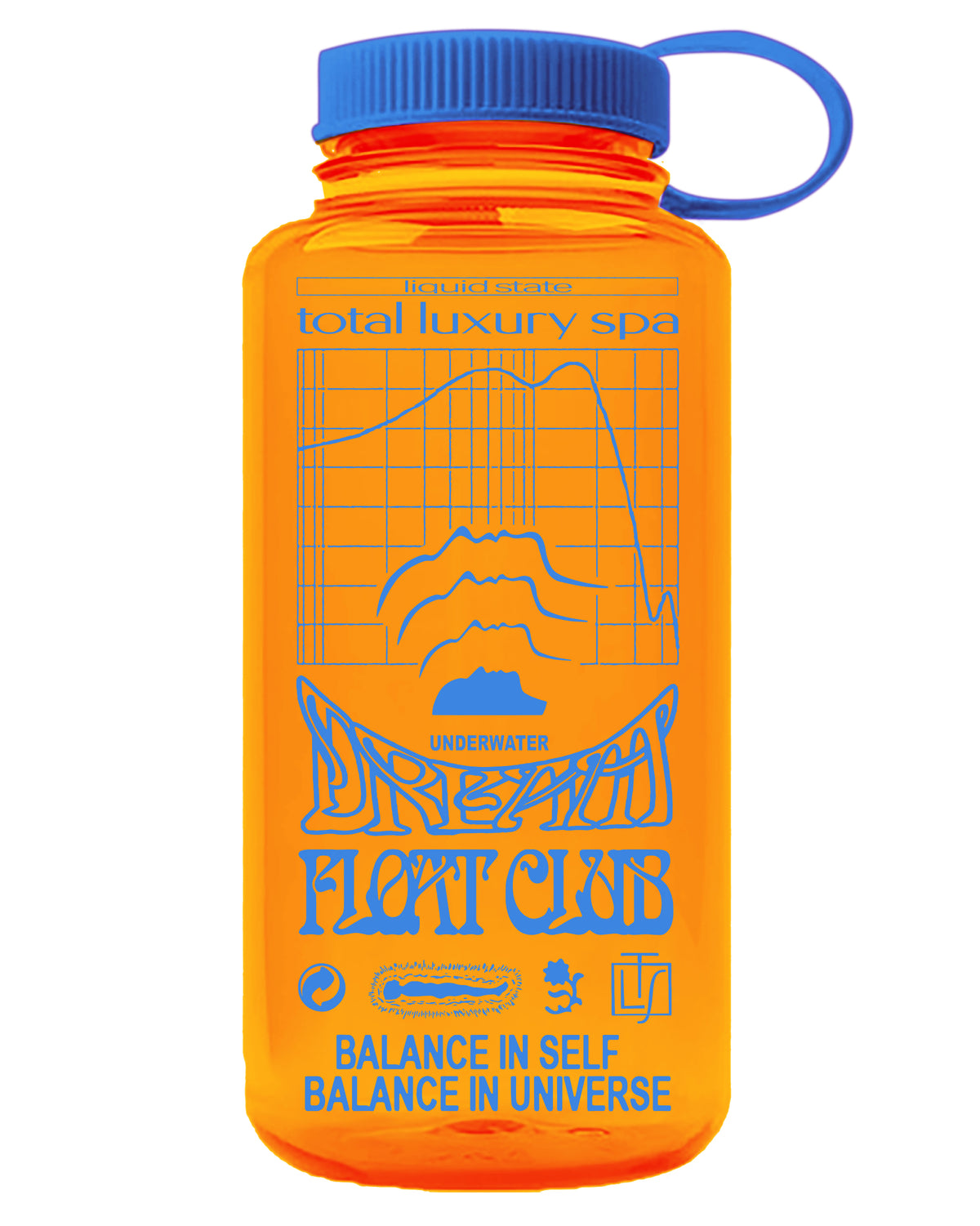 FLOAT CLUB WATER BOTTLE - ORANGE