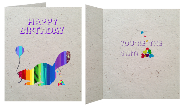 Beaver Birthday Card Blank Inside