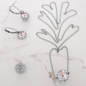 A Complete Set: Necklace, Earrings & Ball Ending