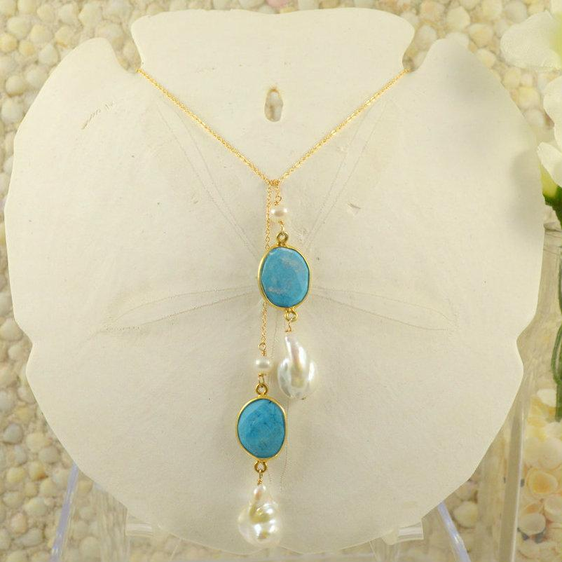 Turquoise and Freshwater Pearl