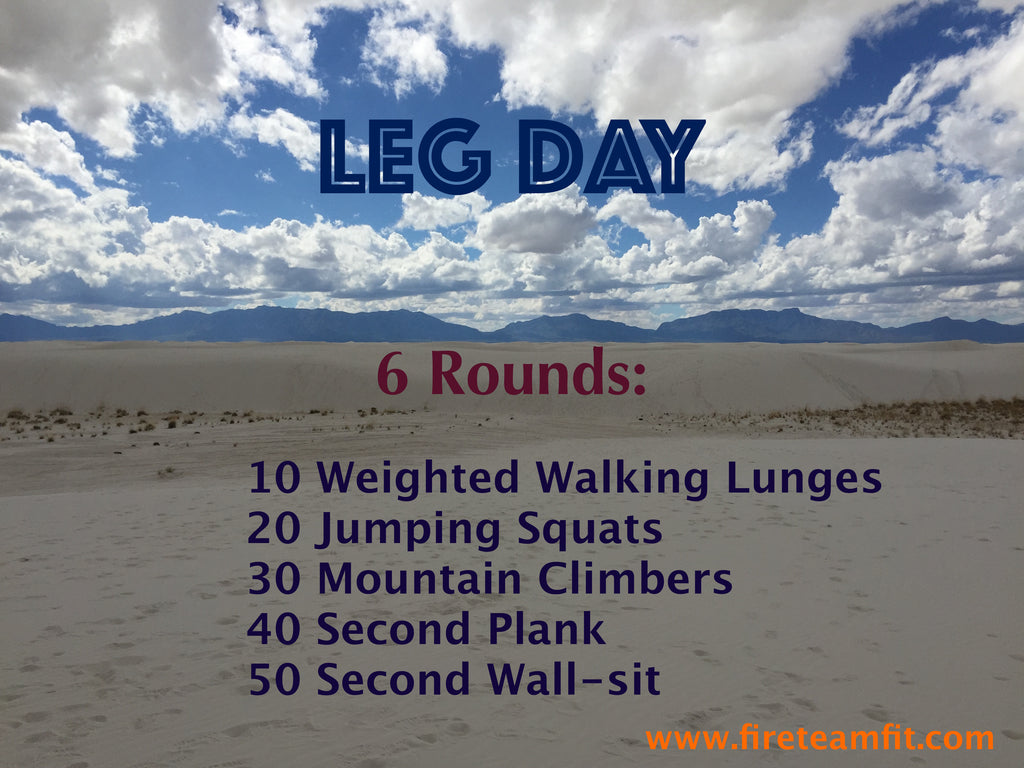 "Home Workout #3: ""Leg Day"""