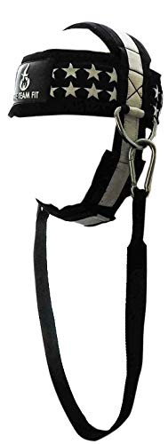 Fire Team Fit Neck Harness for Weightlifting, Neck Exerciser, Head Harness Building Iron Neck Strength, Padded & Adjustable Straps
