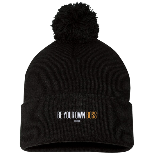 Be Your Own Boss Pom Pom Knit Cap