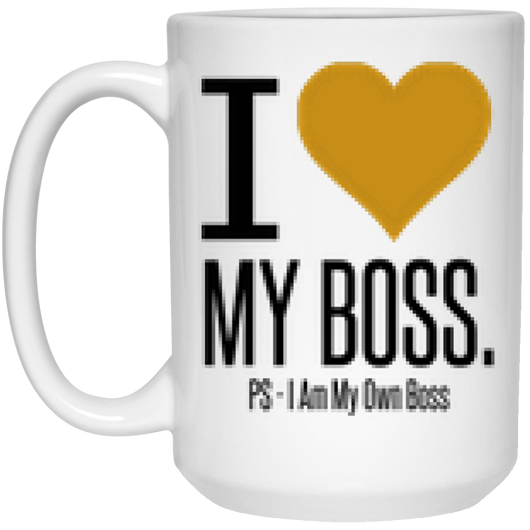 I Heart My Boss Mug - 15oz