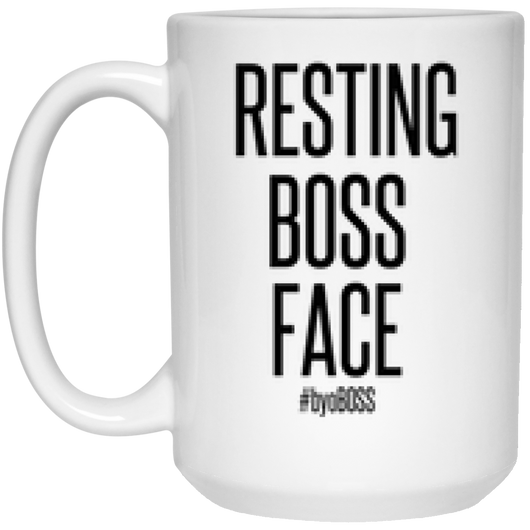 Resting Boss Face Mug - 15oz
