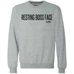 Resting Boss Face Crewneck Sweatshirt 9 oz