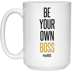 Be Your Own Boss Black & Gold Mug - 15oz