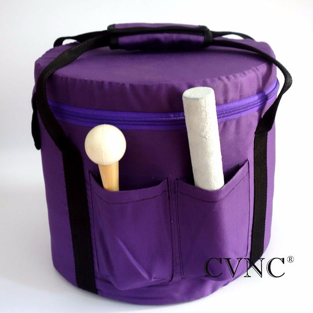 "9"" or 10""  Canvas Carry Bag for Crystal Singing Bowl with Purple Color"