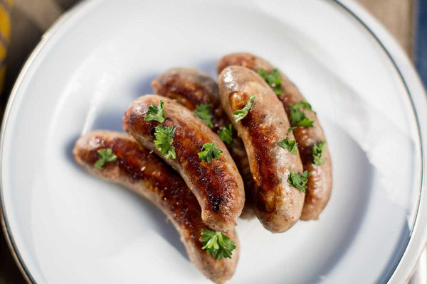 EdenThistle's bratwurst with all natural casing and spice