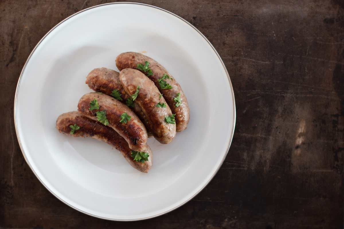 Our all natural bratwurst from EdenThistle