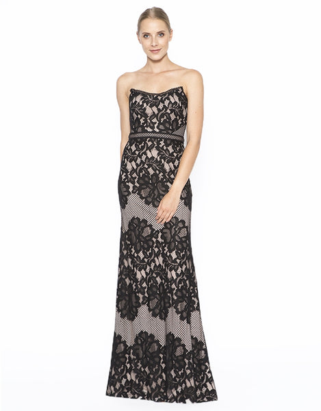 Paula strapless lace gown