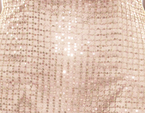 clover grid sequin gown
