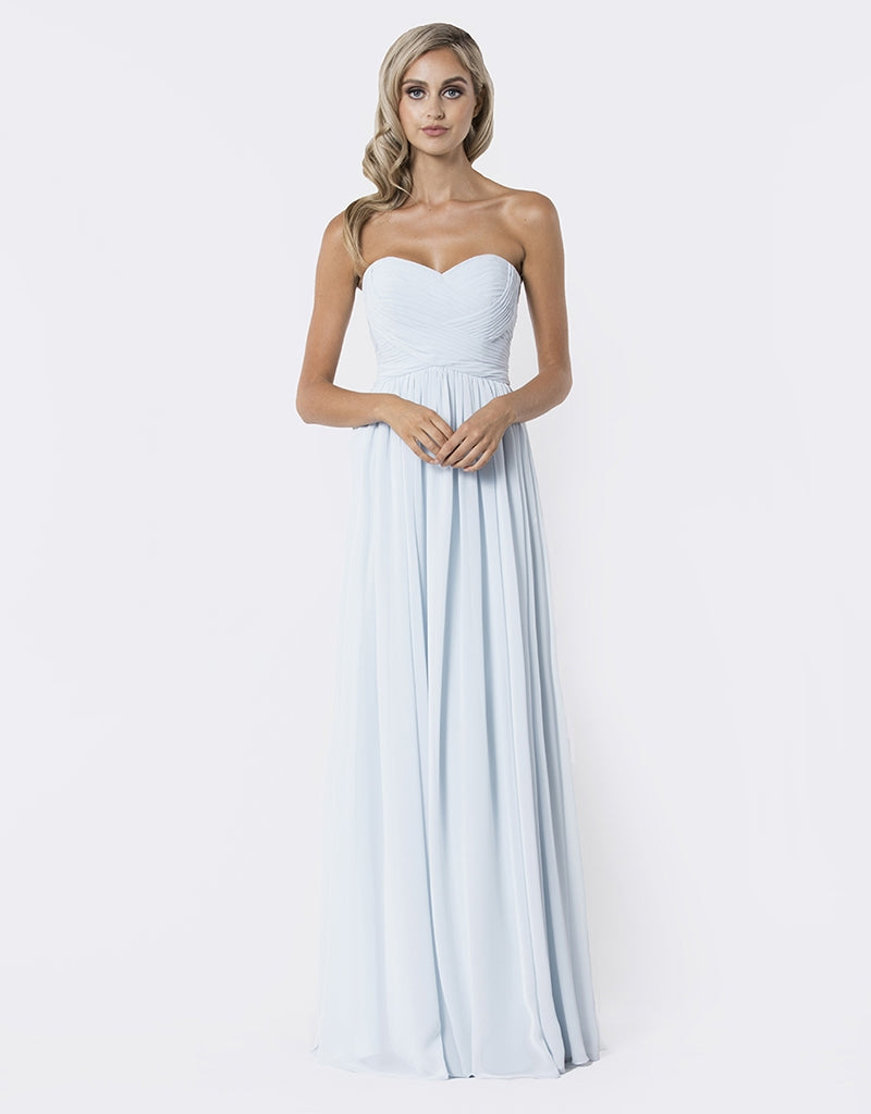 Isabel rouched chiffon gown B26D09