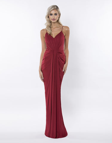 MEMORIES V-NECK DRAPED GOWN