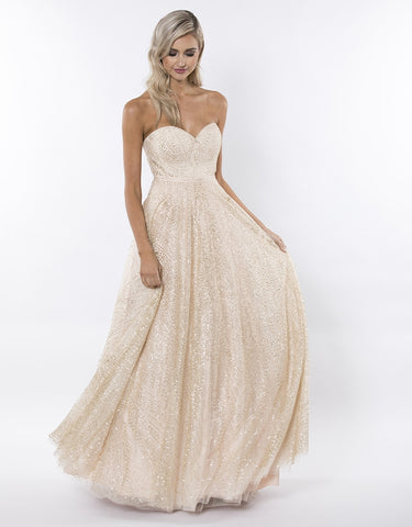 PERFECT DAY DIAMANTE STRAPLESS GOWN