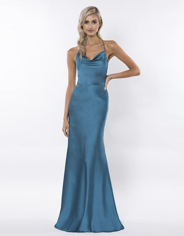 PRETTY LITTLE MIND COWL DRAPED GOWN
