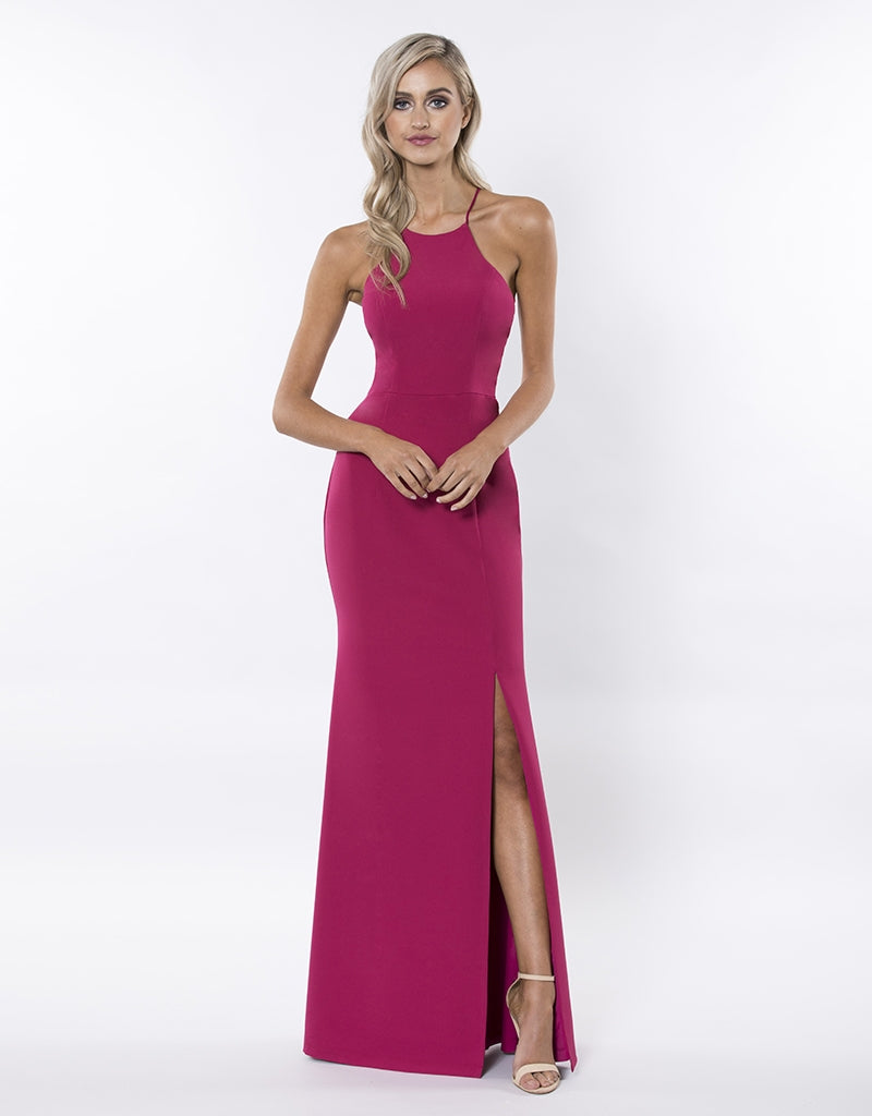 LOLITA HIGH NECK FITTED GOWN