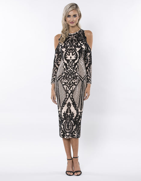 IT'S FLAWLESS PATTERN SEQUIN MIDI